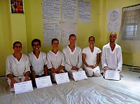 Integrated Zen Shiatsu course 2010/11 - the last day, with well-earned diplomas and bright smiles